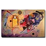 Obra de arte Wassily Kandinsky Classic Colorful Art Poster Decoración para el hogar Pintura Decoración de la sala Imprimir en lienzo -60x90cm Sin marco