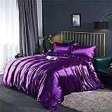 zyhYH 4 Stück Steppdeckenbettwäscheset, Elegantes Modellbettwäscheset mit 2 Kissenbezügen und 1 Bettlaken.Vier Sätze gefärbter Baumwolle auf dem Bett Farbe17 1,5 m