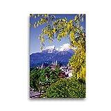 CALVENDO Leinwand Blick auf Berchtesgaden mit Watzmann