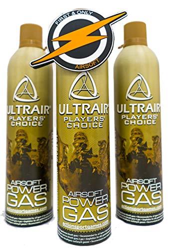 Green Gas 3 Botella, Granada Pistola ASG Ultrair propulsor