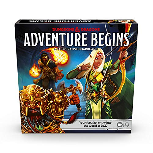 Dungeons & Dragons Adventure Begins, Cooperative Fantasy Board Game, Fast Entry to The World of D&D, Family Game for 2-4 Players, 10 and Up