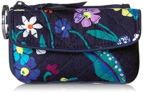 Vera Bradley Women's Signature Cotton Jen Zip ID Case Wallet, Moonlight Garden