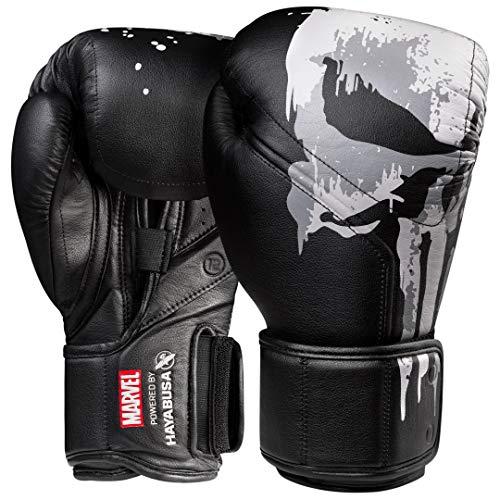 Hayabusa Marvel Hero Elite Boxing Gloves for Men and Women – The Punisher, 16 oz