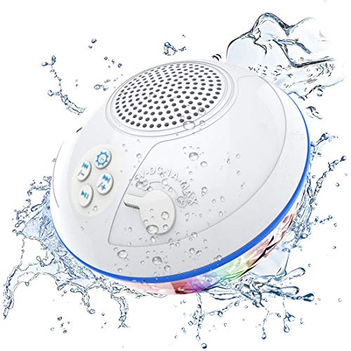 Pool Bluetooth Speakers with LED Lights, IPX7 Waterproof Floating Speaker, Stereo Sound, Built-in...