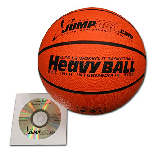Buy Discount 4-Pack Heavy Ball 3lb Weighted Trainer Basketball 28.5 Hi-Carbon Rubber with Skills Vid...