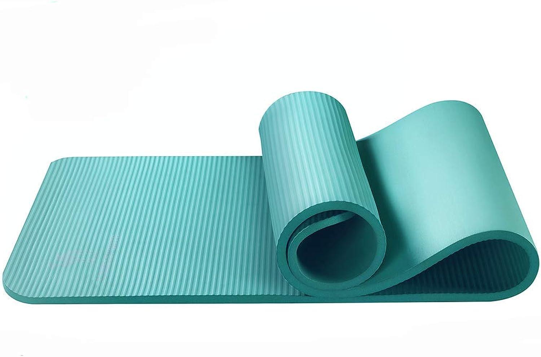 KYCD Groe, gepolsterte Yogamatte mit Tragegriff für Pilates, dünn und leicht Rutschfest, ungiftig, hochwertige Fitness-Yoga-Sportmatte