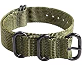 Ritche 20 mm Army Green Nato Strap with Heavy Buckle Compatible With Timex Weekender Watch Band