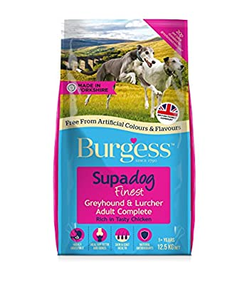 Burgess Dog Food Greyhound and Lurcher with British Chicken 12.5kg from Burgess