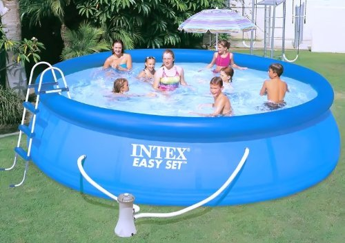 Intex Piscina hinchable Easy set 4, 57 m 1, 07m: Amazon.es: Jardín