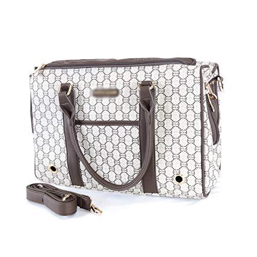 XiuHUa Haustierreisetasche, Hundebeutelkatzentasche, Haustier aus Gerät, bequeme und sichere Belüftung, Sicherheitsschnalle, Aufbewahrungstasche, staubdicht, tragbar, eine Schulter, Modehandtasche Atm