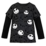 Disney Jack Skellington Long Sleeve T-Shirt for Boys Size M (7/8) Multi