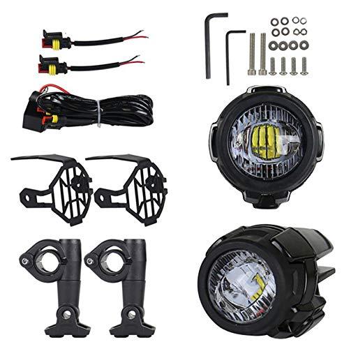 Renoble Motorrad Nebelscheinwerfer LED Zusatzscheinwerfer Zusatzlicht Blitzlichter Set Für Universal Und R1200GS F800GS Super Bright Mit Schutzgitter 3 Jahre Garantie