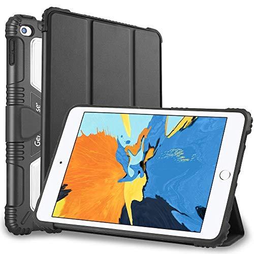 Shell For iPad Mini 5/4/3/2/1 TPU + PC Skin Mounted Magnetic Absorption Three Fold Flat Plate Anti Falling Sleeve Protective Shell/Case(Black). (Color : Black)