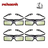 4pcs Pergear 144Hz DLP-Link Active Shutter 3D Brille für Optoma