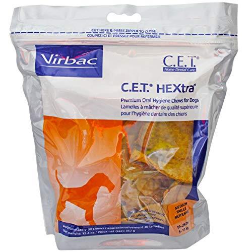 C.E.T. HEXTRA Chews, medium, 30 ct, 2-pack