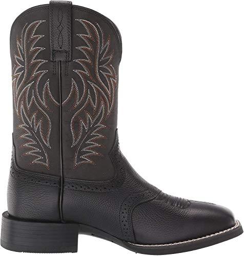 Ariat Men's Sport Wide Square Toe Western Boot Black 12 D(M) US