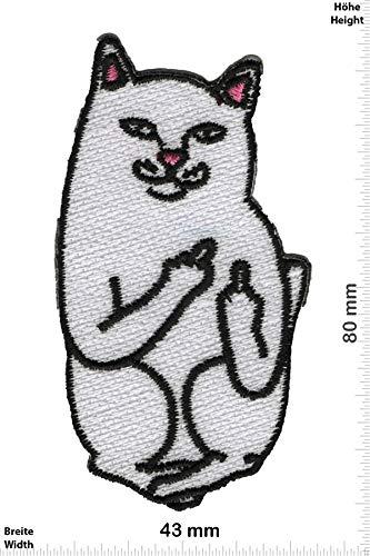 Patch - Katze - Cat - Fuck You - Fun - Fun - Katze - Aufnäher - zum aufbügeln - Iron On