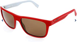 72c893bdb Óculos Lacoste L876S 615 Vermelho Fosco Branco Lente Marrom Flash Tam 57