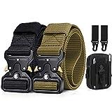 BESTKEE Paquete de 2 cinturones tácticos para hombres de 1.