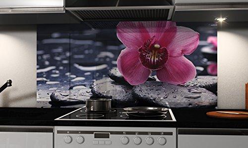 Küchenrückwand-Folie selbstklebend Zen Klebefolie in verschiedene Größen | Fliesenspiegel | Dekofolie | Spritzschutz | Küche