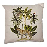 Eideo Home Zierkissen CHIC Safari - Gepard UNTER PALMEN, Polyester, 45 cm