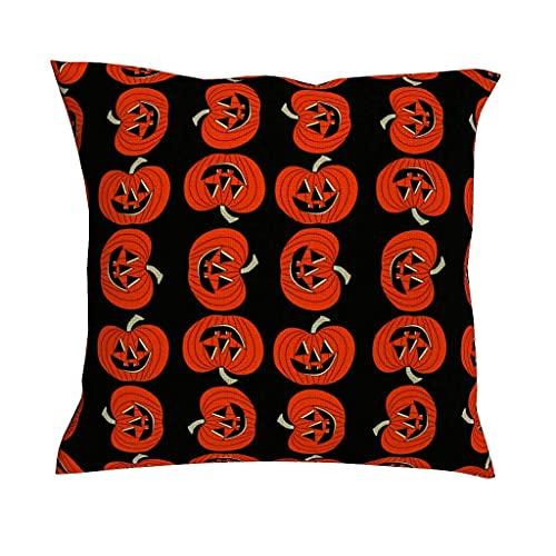 AlineAline Funda de cojín para fiestas de Halloween, carnaval, color naranja, con diseño de faroles de calabaza, cuadrada, decorativa, para el hogar, sofá, cama, coche, 45,7 x 45,7 cm
