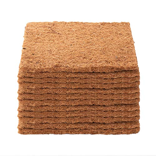 12 Pcs Coco Coir Liner Chicken Nesting Pads- Thick Wood Shavings Liners, Chicken Coop Supplies for Composting, Hen Laying Eggs