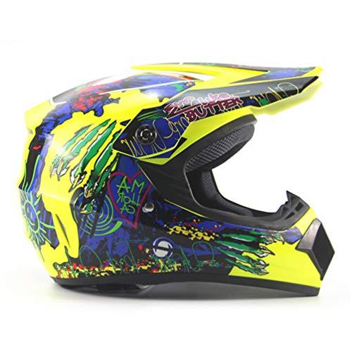 Qianliuk Caschi di Protezione Moto Motocross Downhill Safety Casco