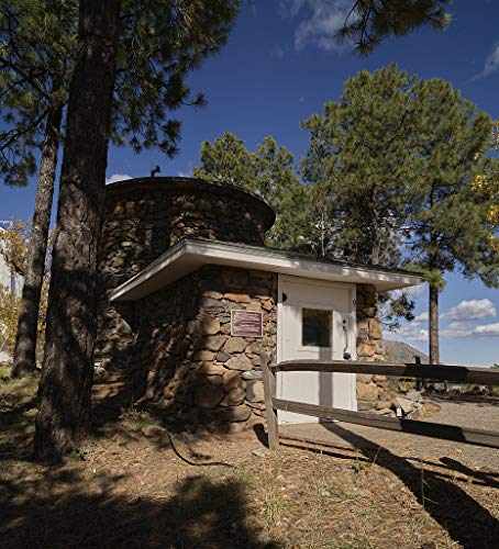 18 x 24 Ready to Hang Canvas Wrap of an Old Water Tank and shed Used to Store a Large soda-Acid fire Extinguisher at Lowell Observatory in Flagstaff Arizona v12 2018 Highsmith