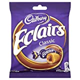 Cadbury's Cadburys Chocolate Eclair Bag - 130g - Pack of 6 Store in cool dry place Delivery from the UK in 7-10 Days Allergen Information Contains Milk