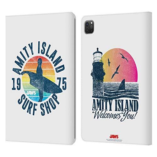 Head Case Designs Oficial Jaws Tienda de Surf I Arte Clave Carcasa de Cuero Tipo Libro Compatible con Apple iPad Pro 11 (2020)