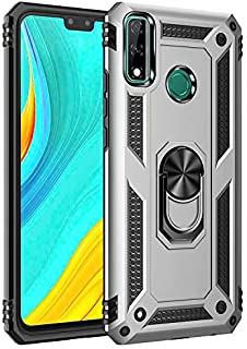 Soosos Case for Huawei Y8S Case Hybrid Heavy Duty Military Grade Built-in Metal Rotating Ring Kickstand Cell phone Protect...