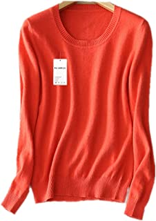 1524067bc389c1 MMYOMI Womens Ladies Round Neck Cashmere Knitwear Long Sleeve Pullover  Blouse Jumper Tops Knitted Sweater