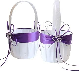 Best purple flower basket Reviews