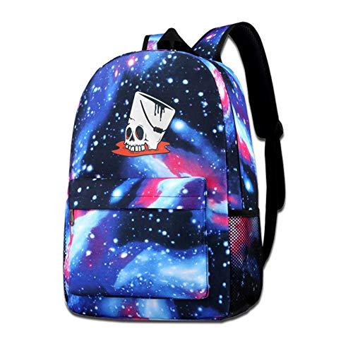 Zxhalkhfd Buckethead Skull Cool Symbol Travel Backpack College School Business Blue One Size