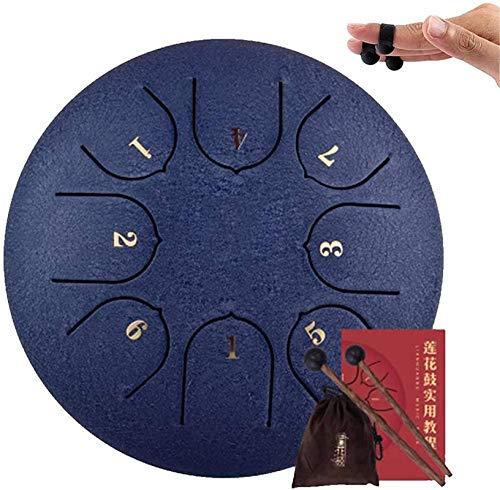 Meditación de yoga Lengua de acero tambor tambor tambor de titanio acero aleación 8 tono 6 pulgadas Mano PAN PERCUSIÓN PARA MEDICIONES PERSONALES YOGA ZEN Año Nuevo, fácil de aprender Concierto de edu