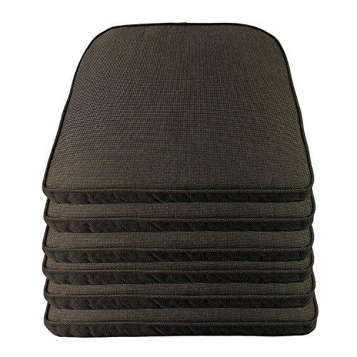 Multistore 2002 Sitzkissen-Sets Outdoorkissen 48x48x5cm -, Farbe:Schwarz strukturiert, Sets:6er Set