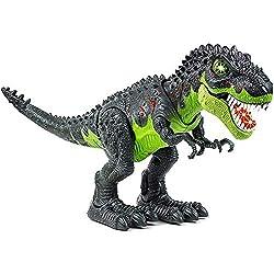 3. Toysery Light Up Walking T-Rex Dinosaur
