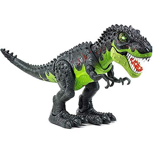 Toysery Tyrannosaurus T-Rex Walking Dinosaur Kids Toy, LED Lights and Realistic Sounds, Dinosaur Toy for Kids 3-12 Years Old Boys and Girls (Colors May Vary)