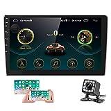Radio de Coche Android 2 DIN GPS CAMECHO Pantalla táctil de 10 Pulgadas en el Tablero Estéreo para Automóvil Bluetooth FM WiFi Enlace Espejo para Teléfono Android iOS + Cámara Trasera