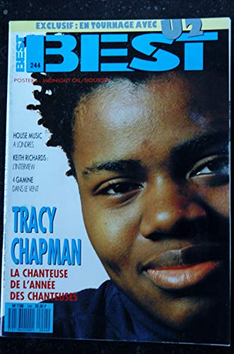 BEST 244 1988 COVER TRACY CHAPMAN U2 HOUSE-MUSIC KEITH RICHARDS POSTERS MIDNIGHT OIL SIOUXSIE