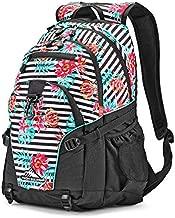 High Sierra Loop Backpack, Tropical Stripe/Black/Aquamarine, One Size