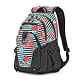 High Sierra Loop Backpack, Tropical Stripe/Black/Aquamarine, 19 x 13.5 x 8.5-Inch