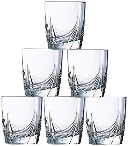 Dajar Ascot - Juego de 6 vasos bajos (300 ml, cristal, 8 x 8 x 9 cm, 6 unidades)