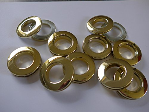 Vorhänge Röttger Ösenring vermessingt 2 teilig bis 16mm Rohr 10 Ringe