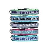 Collar de Perro Reflectante Personalizado, Nombre y número de teléfono del Perro Bordado, Collar Ajustable y Suave para Caminar y Correr