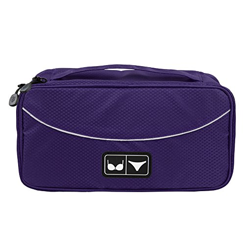 BAGSMART Travel Gear Luggage Packing Cube Lingerie Travel Case Bra Underwear Bag, Purple