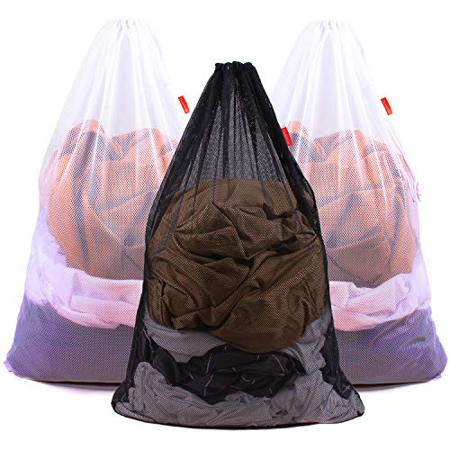 commercial Duomi W mesh laundry bag High performance drawstring bag, factory, university, dormitory, travel, apartment … heavy duty laundry bags for college