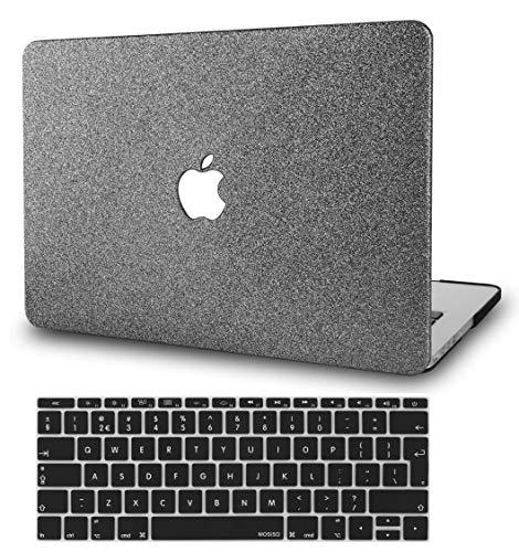 KECC MacBook Pro Retina 13 Zoll Hülle Schutzhülle Case w/EU Tastaturschutz MacBook Pro 13.3 Retina Hülle {A1502/A1425} (Prickelnd Grau)