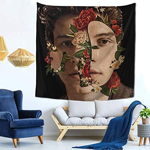 JETEZ S-Hawn Men-Des 98 Tapestry Wall Hanging Floral Plants Tapestry Nature Scenery Tapestry for Living Room Bedroom Dorm Home Decor 5959 Inch.